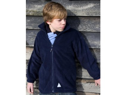 Detská fleecová bunda so zipsom
