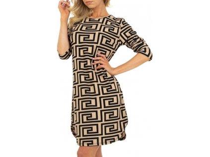Dámske krátke šaty béžové SL047