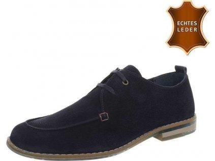 Pánske kožené topánky modré S200