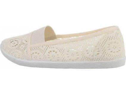Dámska voľnočasová obuv béžová S54