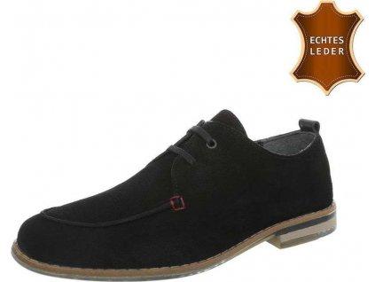 Pánske kožené topánky čierne S200