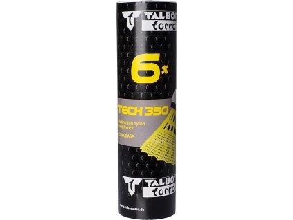 Košíky na badminton Talbot Torro Tech 350 6 kusov, žlté 479103