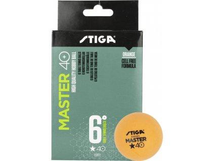 Loptičky Stiga Master* oranžová 6 kusov