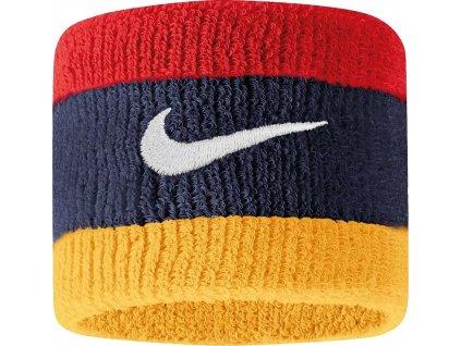 Potítko Nike Swoosh Wristbands granatowo-czerwono-żółte N0001565428OS