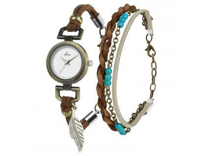 Hodinky Hippie Chic Gift Set Watch & Bracelet B-TI-HCPIP