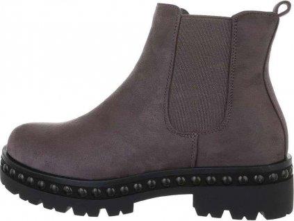 Dámske Chelsea Boots tmavo šedé S620