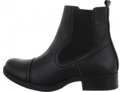 Dámske Chelsea Boots čierne S719