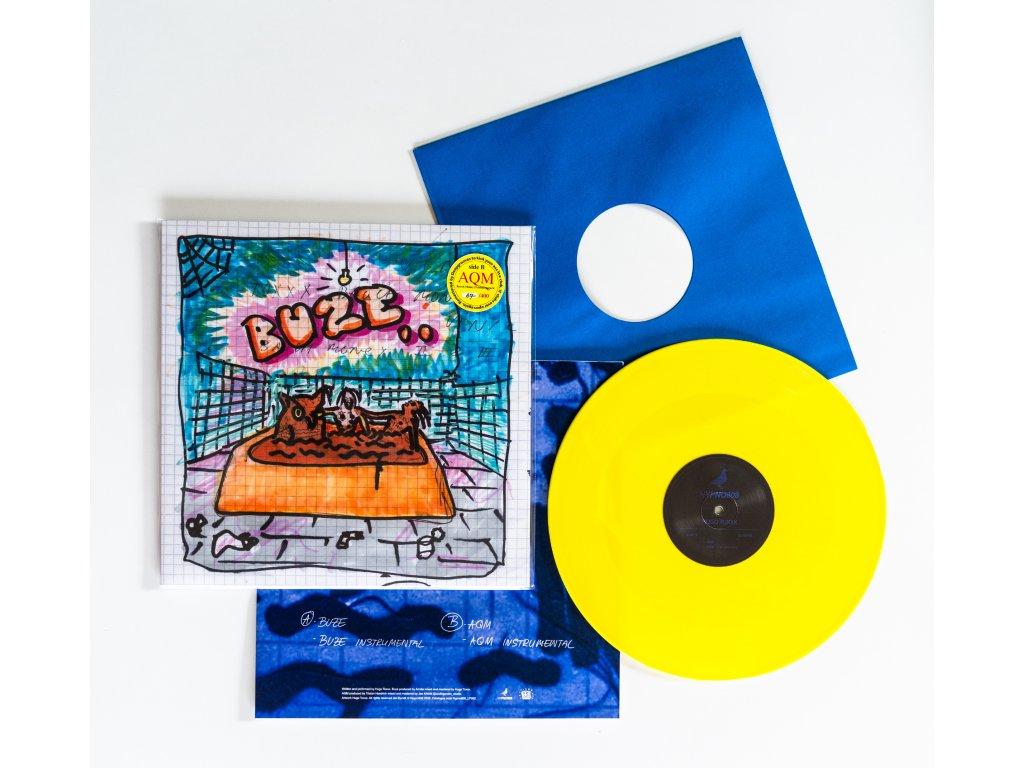 """12"""" HUGO TOXXX - BUZE / AQM (Yellow Vinyl)"""