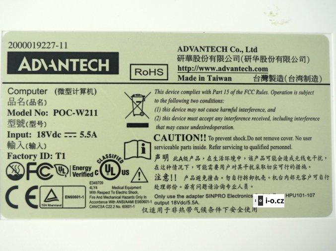 Monitor modrobílý Alphatron 1 webová verze
