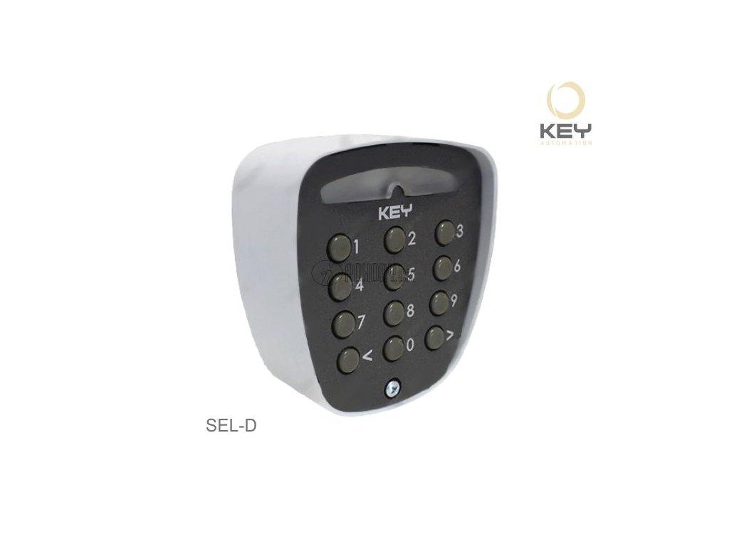 Tlačítkový digitální spínač hliníkový, potřebný dekodér DECODER