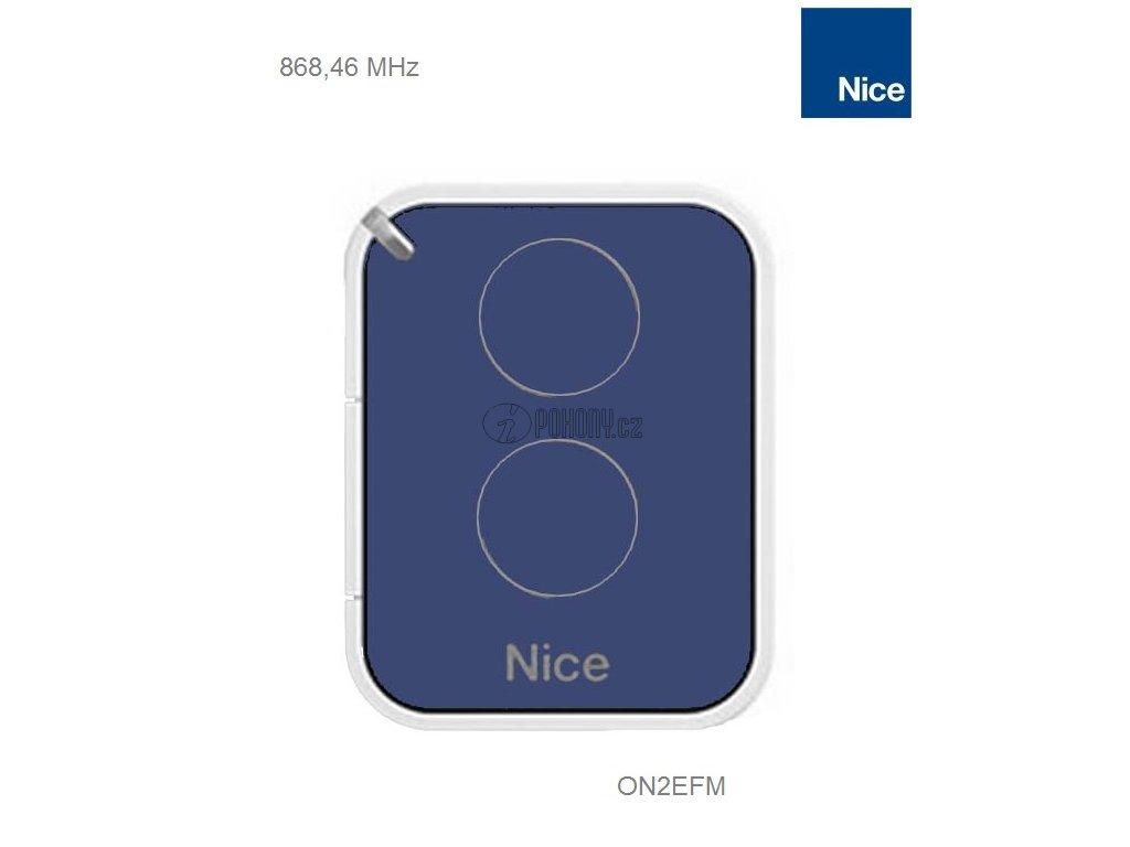 NICE ON2EFM - 2-kanálový vysílač na frekvenci 868,46 MHz s plovoucím kódem