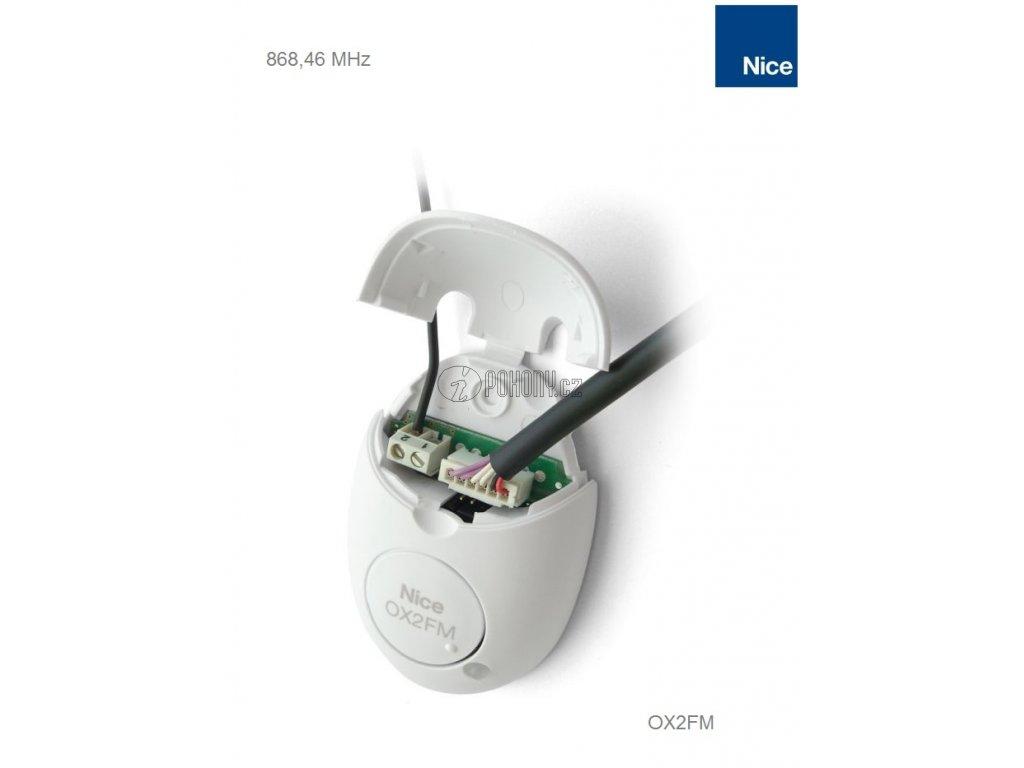 NICE OX2FM - universální 2-kanálový přijímač na frekvenci 868.46MHz