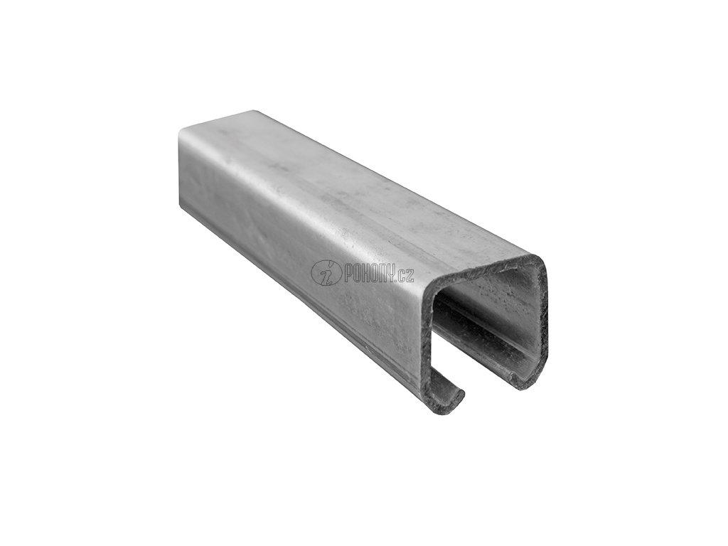 Závěsná dráha 57x67mm pro závěsná vrata - zinkovaná - délka 6m