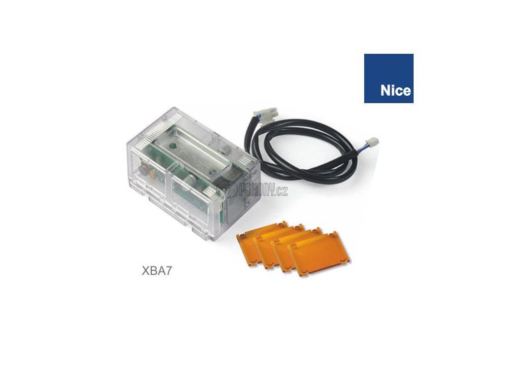 NICE XBA7 - Modul výstražné lampy, blikající bíle nebo oranžově pro závory BAR