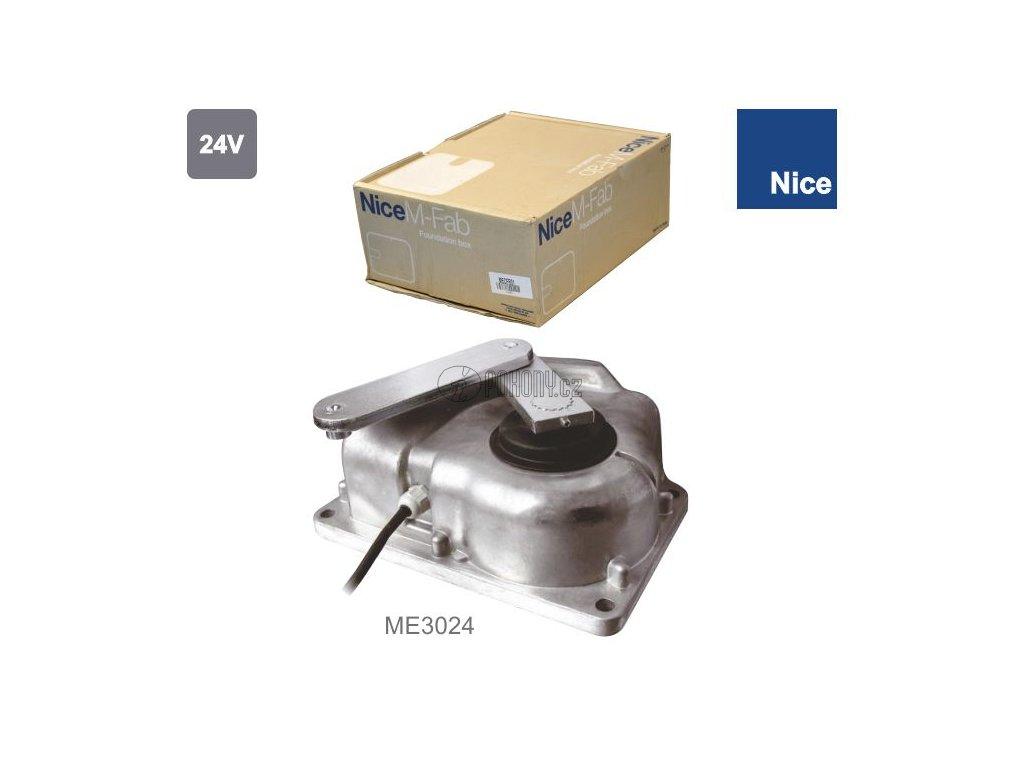 NICE ME3024 - nově FAB3024 pohon pro křídlové brány do 3,5 m, podzemní montáž, 24 V