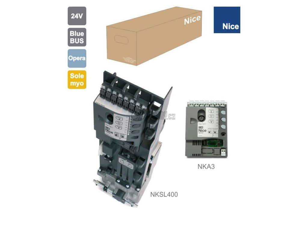 NICE NKSL400 - pohon NAKED pro posuvnou bránu do 400kg