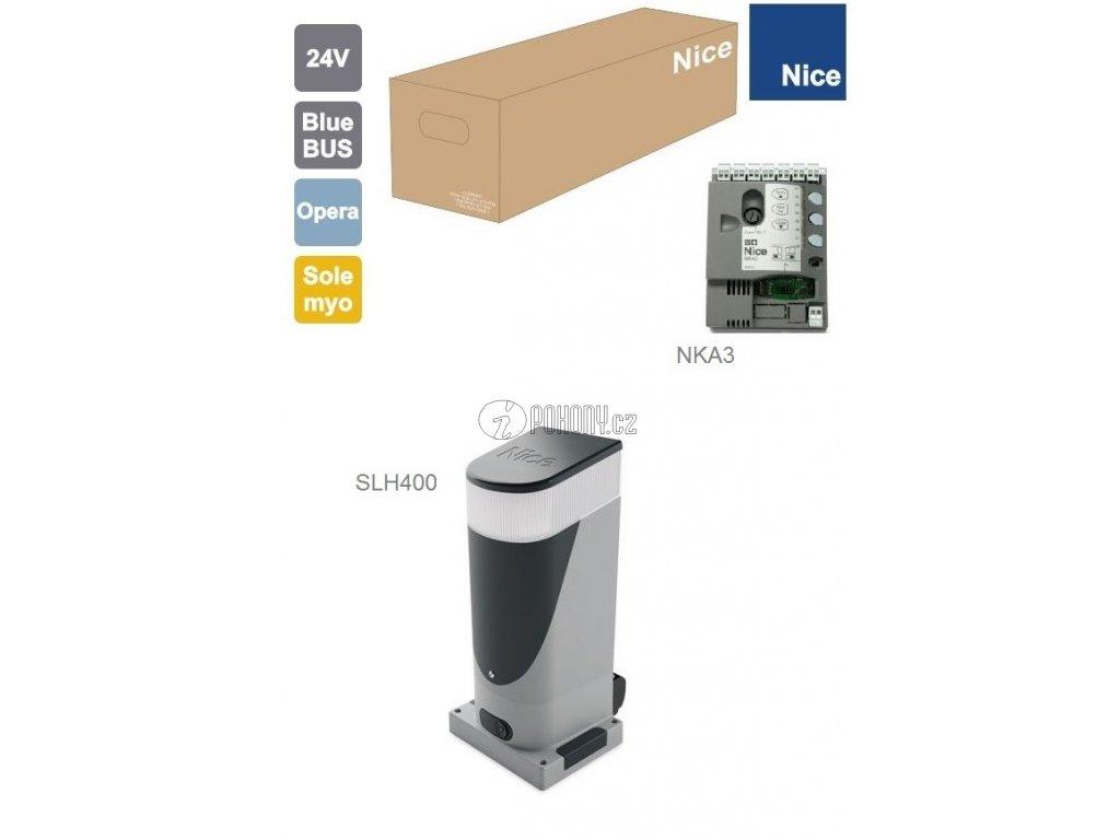 NICE SLH400 - pohon SLIGHT pro posuvnou bránu do 400 kg s LED osvětlením
