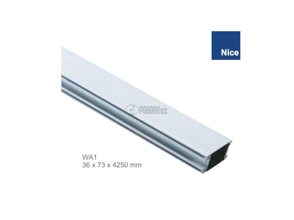 NICE WA1 - Hliníkové rameno bílé 36x73x4250mm pro závora WIL4