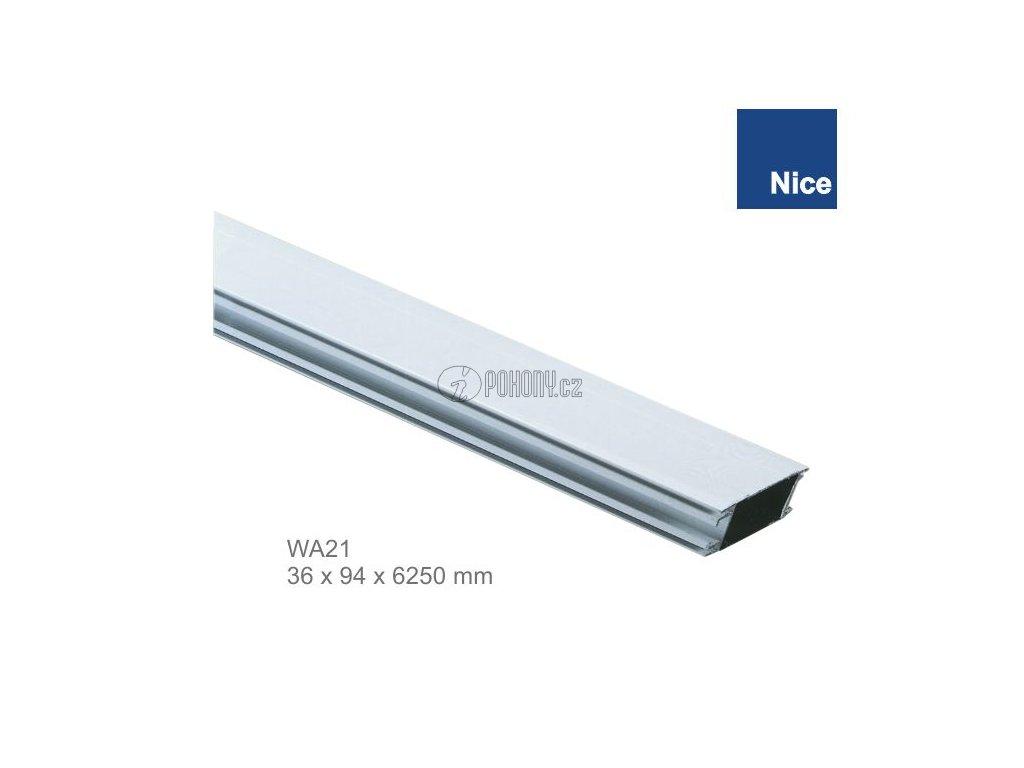 NICE WA21 - Hliníkové rameno bílé 36x94x6250mm pro závora WIL6