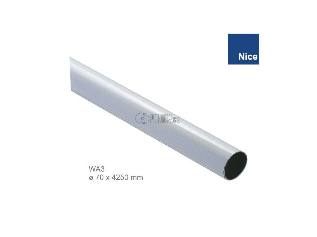 NICE WA3 - Hliníkové trubkové rameno ø70 x 4250 mm pro závora WIL4/SIGNO4