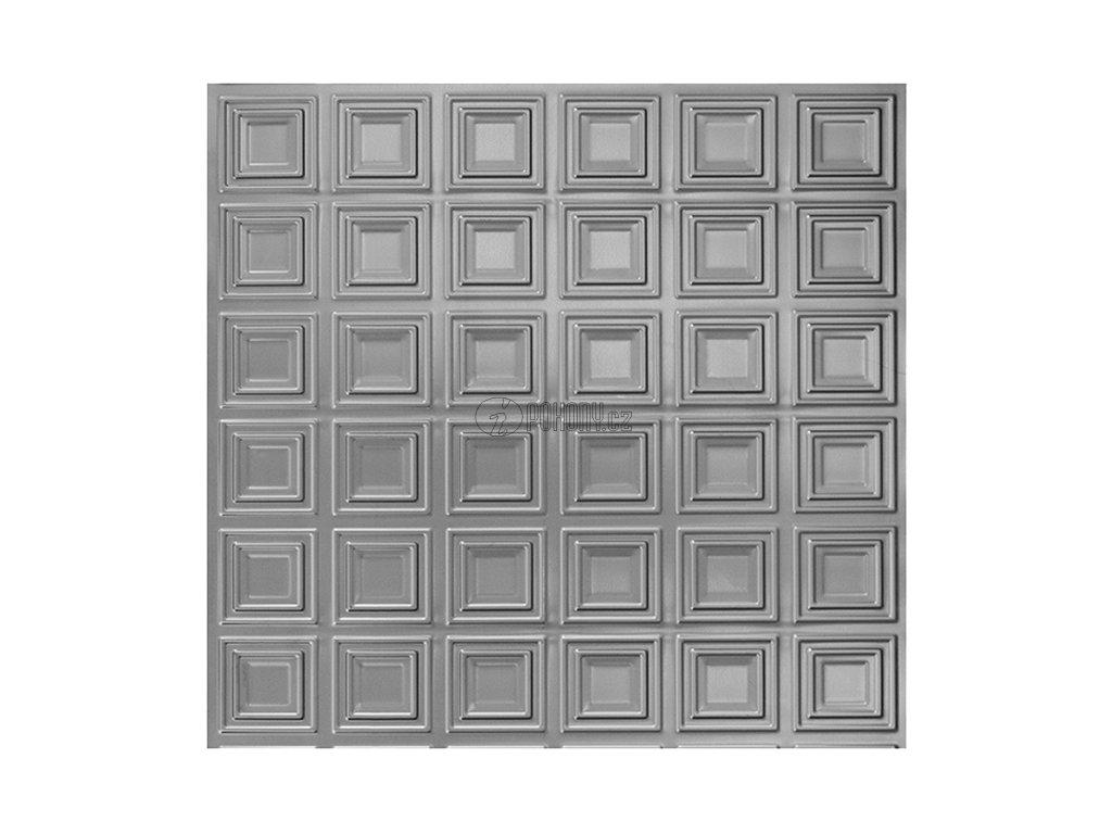 Černý lisovaný plech 2000 x 1000 x 1,2 mm s 3D efektem kazeta