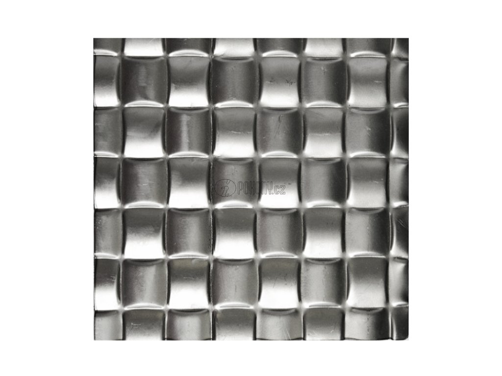 Černý lisovaný plech 2000 x 1000 x 1,2 mm, 3D efekt pleteniny 27x27mm