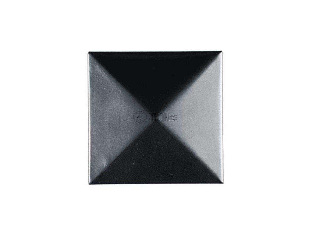Ocelová čtvercová krytka na sloupek 100x100mm