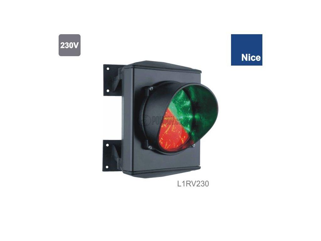 NICE L1RV230 - Semafor LED dvoubarevný-jednokomorový 230V