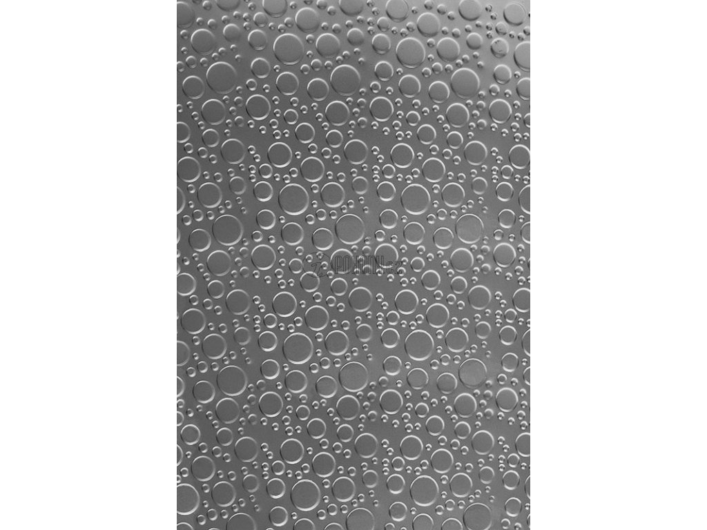 Plech pozinkovaný 2000x1000x1,2 mm, lisovaný vzor, 3D efekt.
