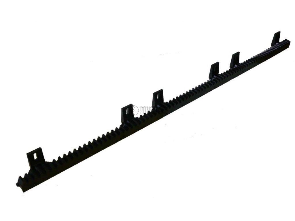 HR100 - ozubený hřeben s ocelovým jádrem a nylonovým povlakem s úchyty směrem dolů