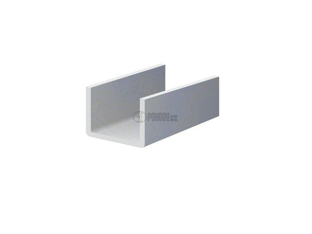 Zinkovaný U-profil 25x50x25x1,5 mm pro plotové lamely