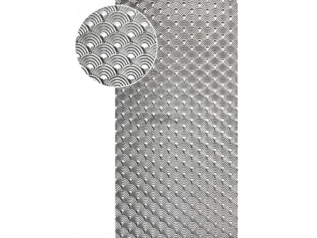Plech pozinkovaný 2000 x 1000 x 1,2 mm, lisovaný vzor DUHA, 3D efekt. Skutečný rozměr 1990 x 950 x 1,2 mm