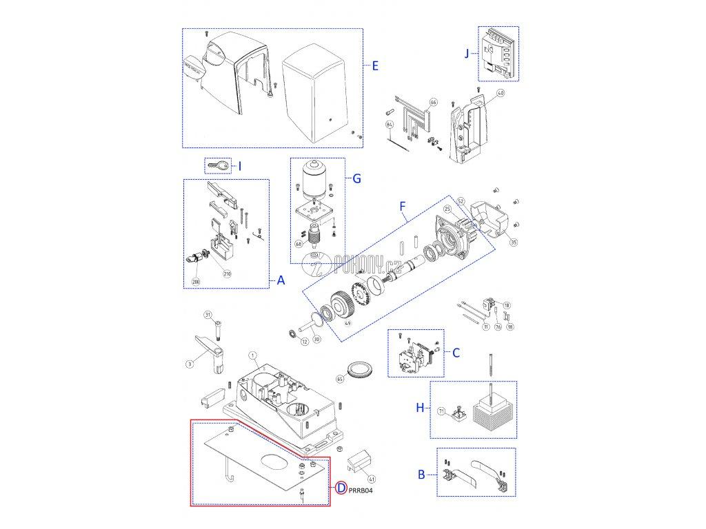 Montážní deska pro pohony - PRRB04