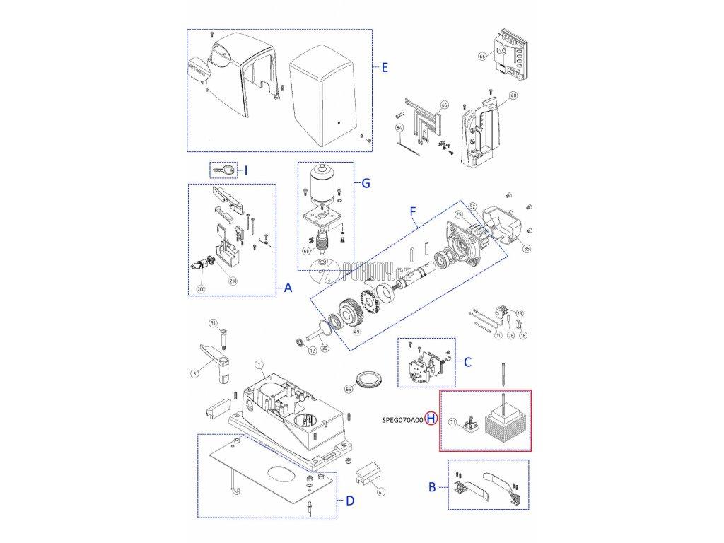 Sada transformátoru a diodového můstku DPONTE-B.2830 - SPEG070A00
