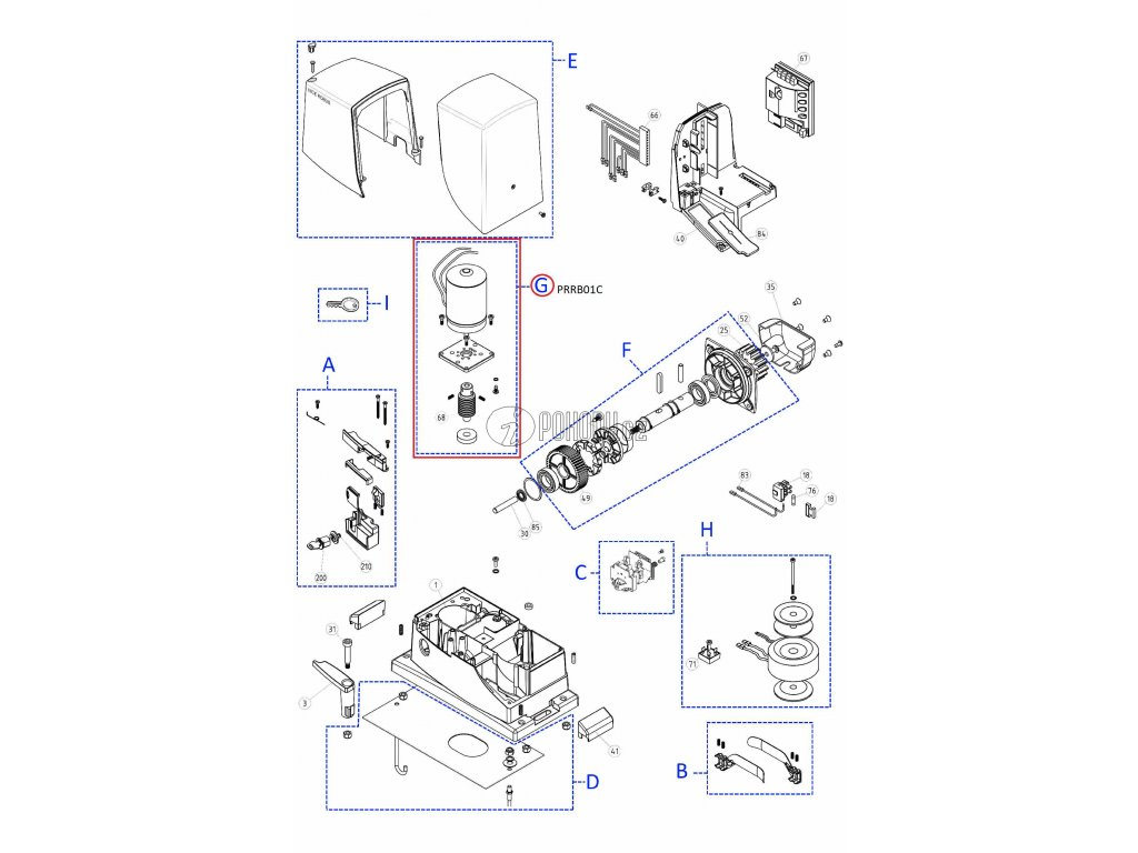 Motor se šnekem pro Robus1000 - PRRB01C