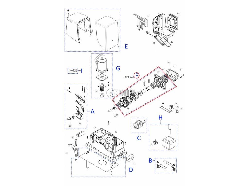 Kit převodovky RB600 - PRRB02A