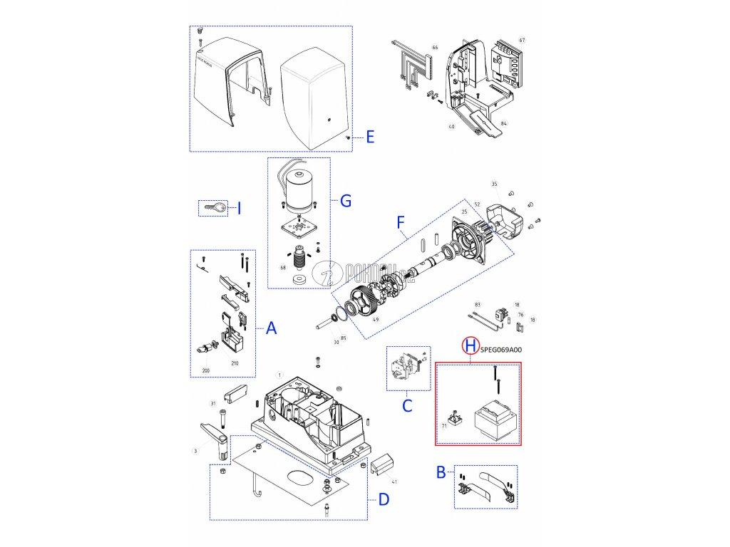 Sestava transformátoru pro RB600 a RB500HS