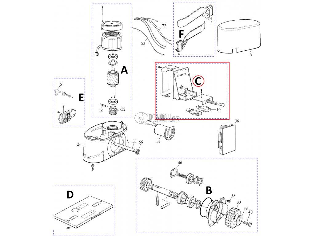 Sada držáku elektroniky s mikrospínači pro pohony Robo / Thor - PRTH01