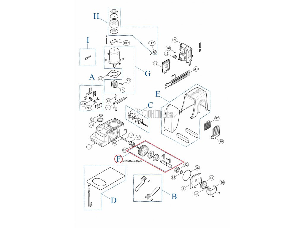 Kit převodovky pro pohony RUN - SPAMG173A00