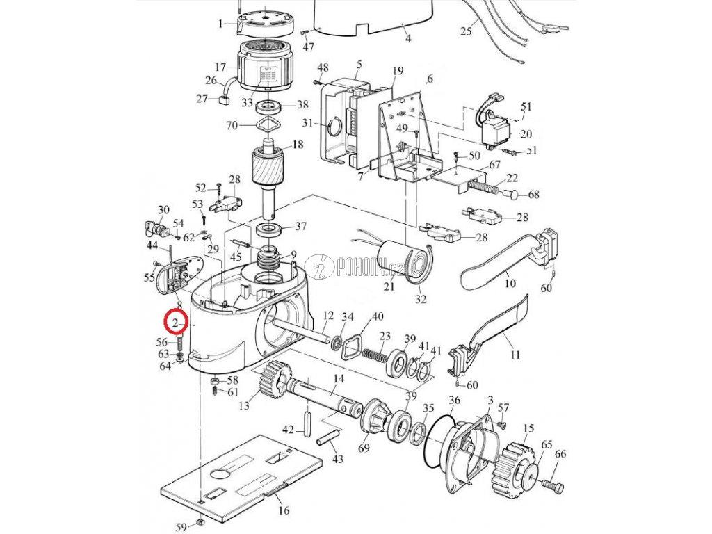 Korpus pohonu pro řadu ROBO - BMG1848.45673