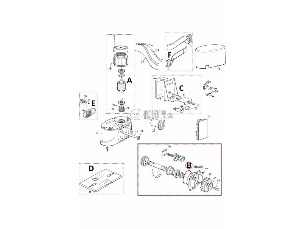 Kit hřídele pro pohony Robo500 / Robo1000 - PRRO02