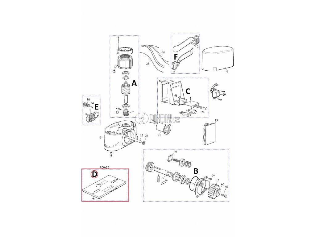 Montážní deska pro ROBO - ROA15