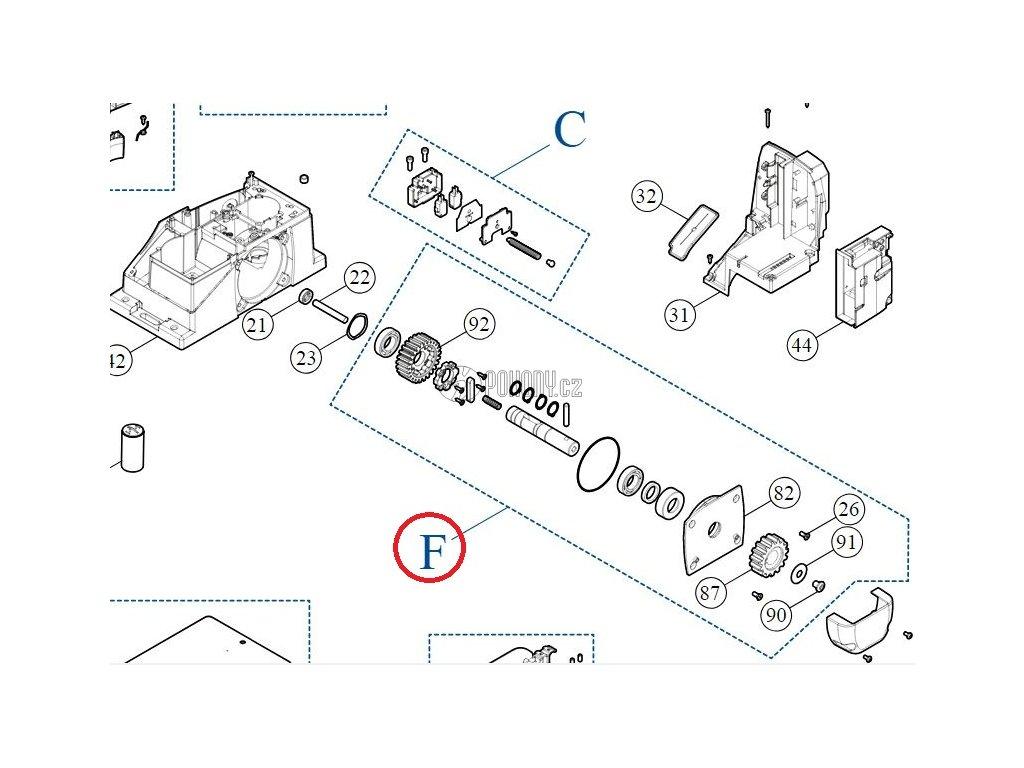 Kit hřídele pro pohony ROX 600/1000 - SPAMG233A00