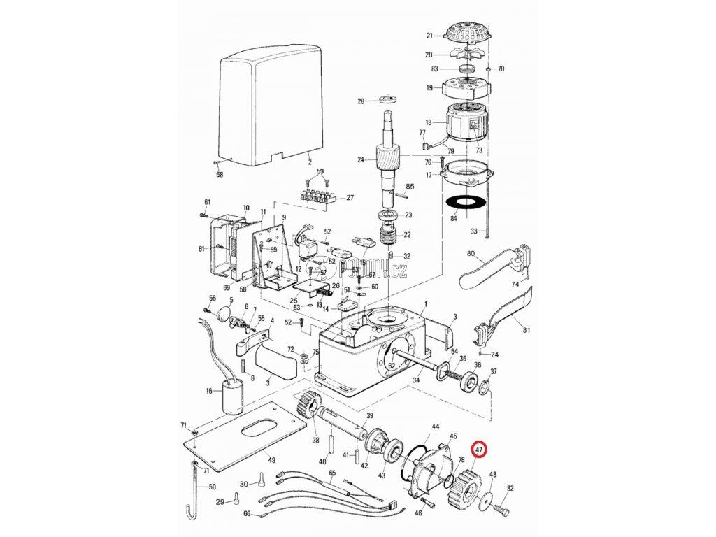 Ozubený pastorek M4 pro pohony Run / Thor - PMD0628.4610