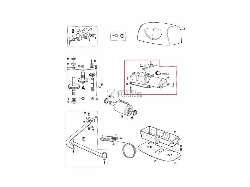 Kit motoru pro HYPPO - PRHY03