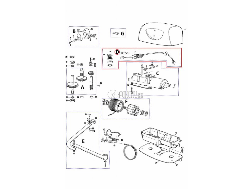 Kit koncový spínač pro Hyppo - PRHY04