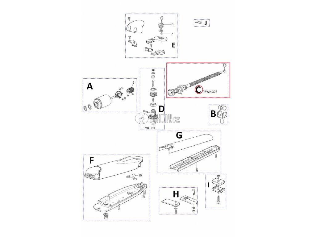 Kit hřídele pro WG3524/ WG3524HS - PRWNG07