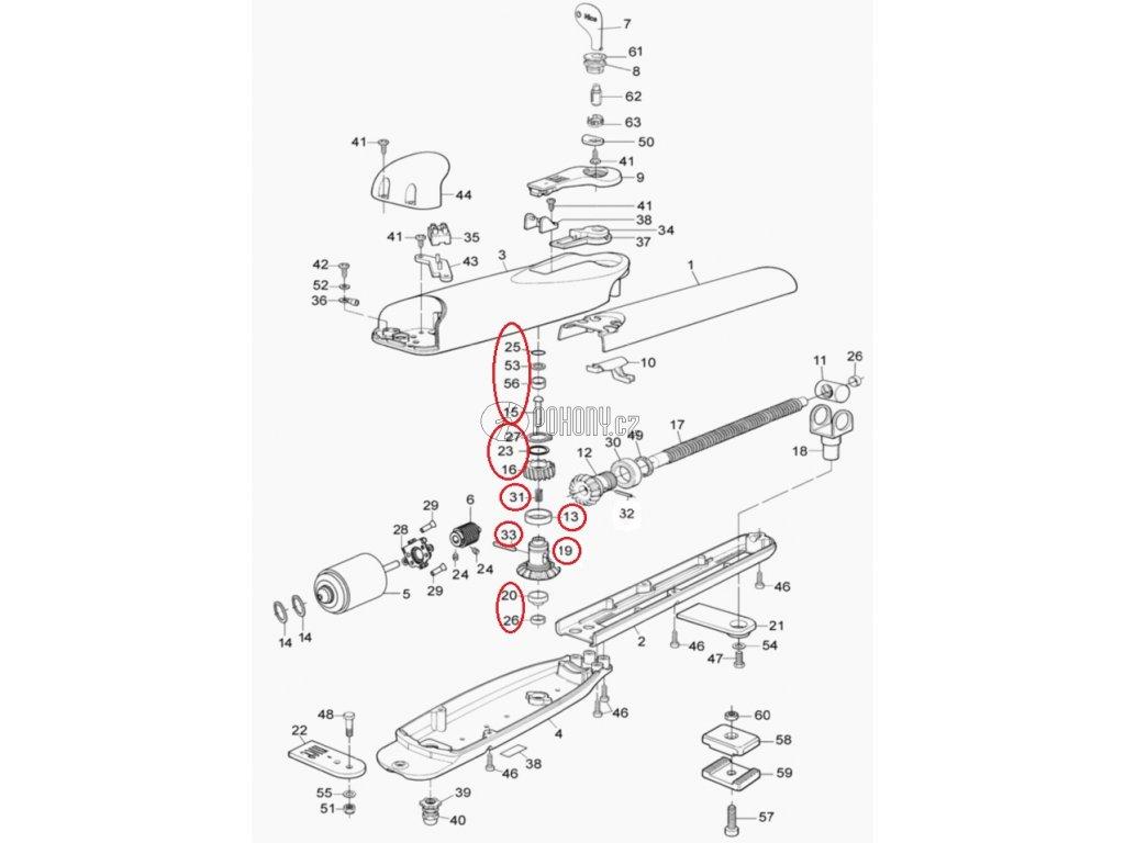 Kit převodovky pro WINGO 230V - PRWNG02