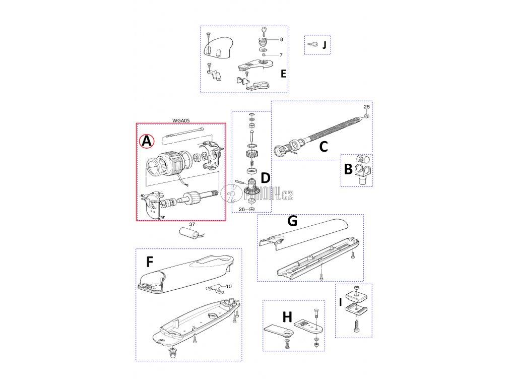 Elektromotor pro WG5000 a WG4000, 230V - WGA05