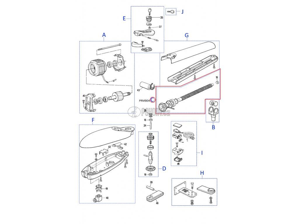 Kit závitové tyče pro MOBY4005, 4006 - PRMB04